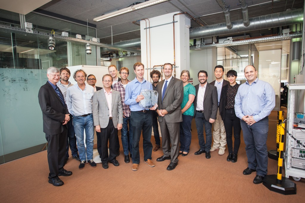 The TU Delft team with the Intel representatives.